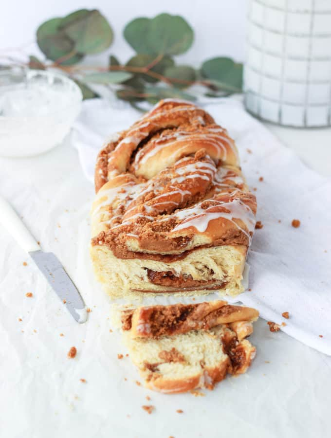 Cookie butter babka