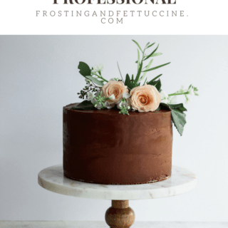 10 Ways To Make Your Cakes Look More Professional. Follow these pro tips to turn your home baked cakes into professional beauties. #protips #cakedecorating #baking FrostingandFettuccine.com