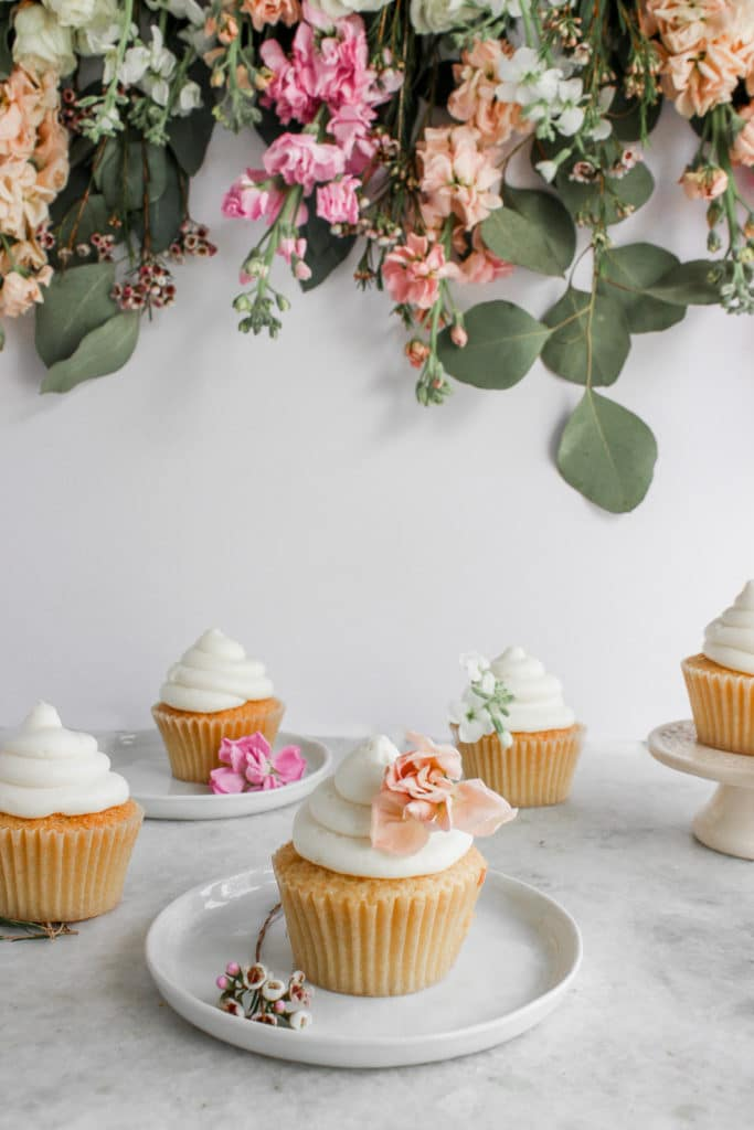 This classic vanilla american buttercream is so light and fluffy and comes together super quickly with only a few ingredients! #buttercream #vanilla Frostingandfettuccine.com
