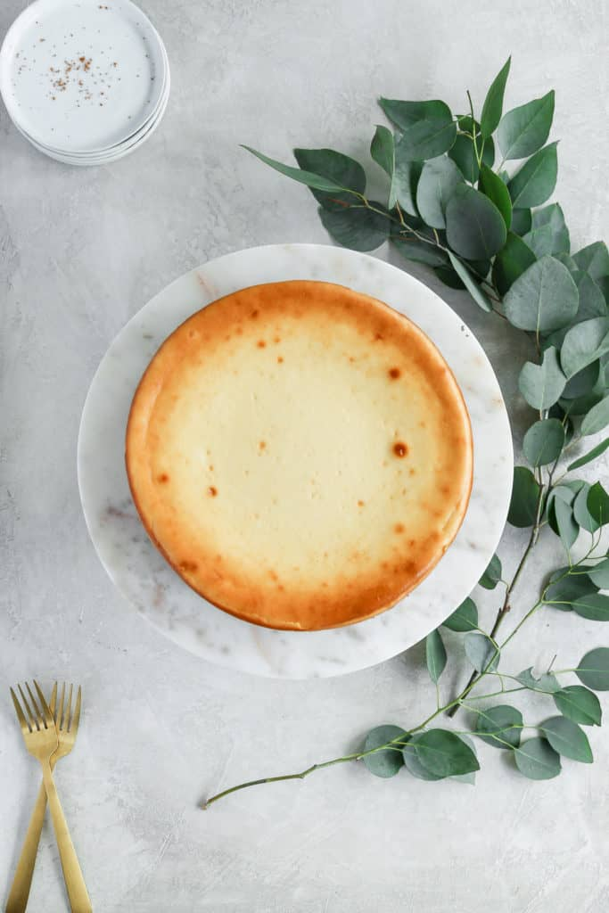 No cracks in a perfect cheesecake