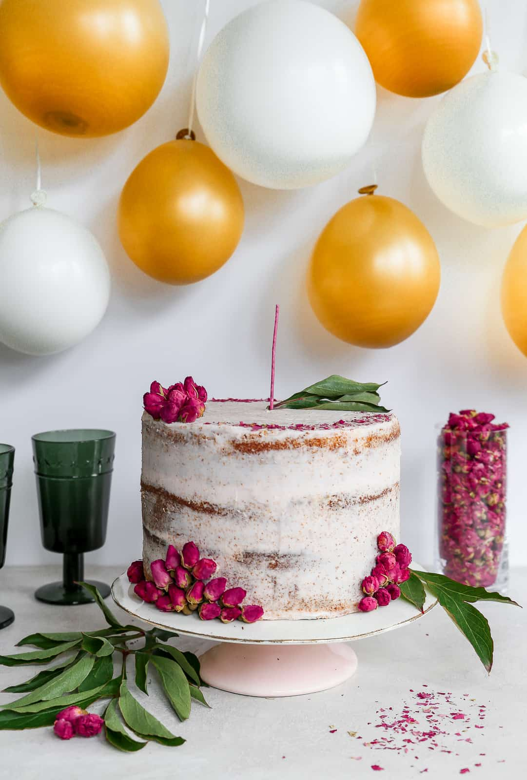 This Spiced Orange Cardamom Cake Is Filled And Covered With A Sweet Rose Buttercream Garnished The Most Delicate Dried Rosebuds