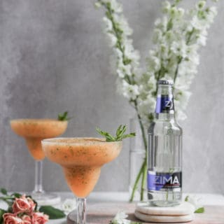 Peach, mint and Zima® frozen cocktails are the perfect summer drink for relaxing by the pool listening to your 90's jams