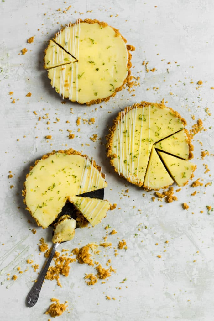 slices cut into mini key lime pies