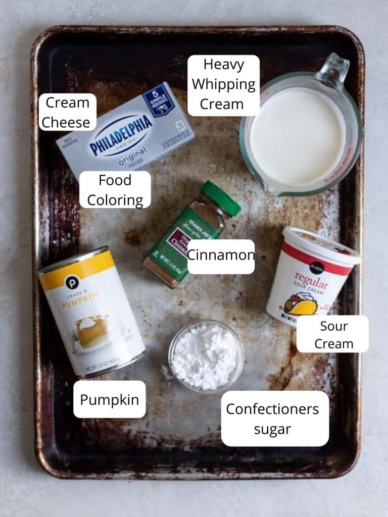 Ingredients for pumpkin mousse