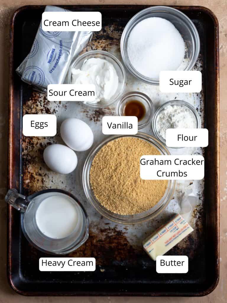Ingredients for mini cheesecake bites